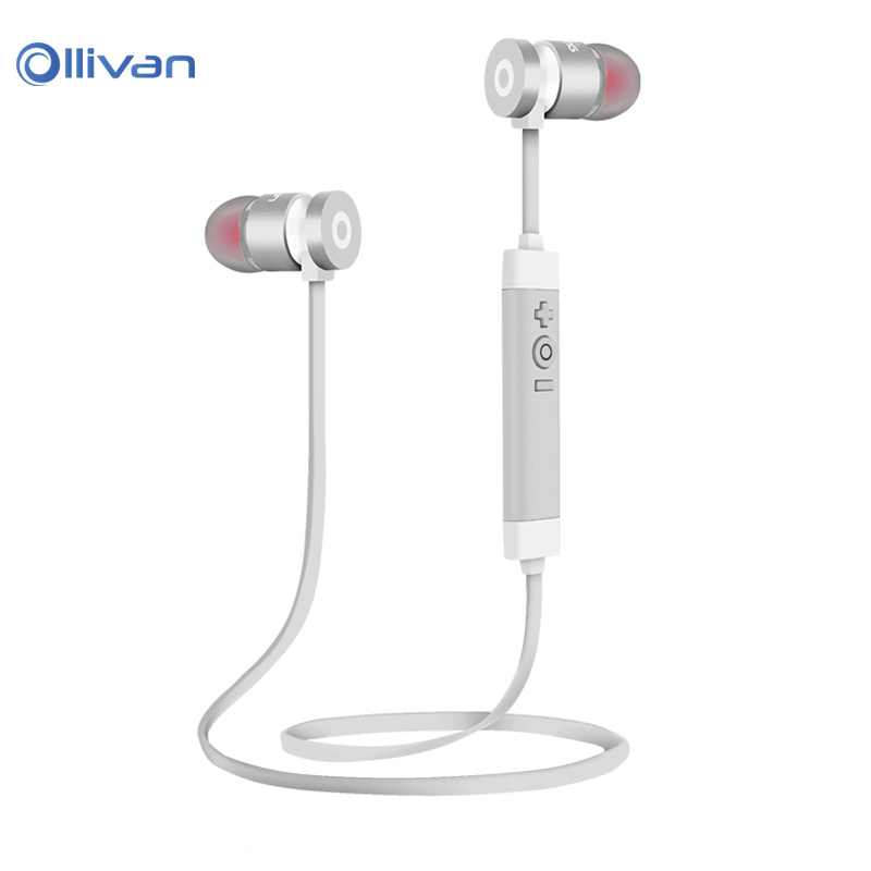Ollivan Metal Stereo Auriculars Bluetooth Headset Earbud Wireless Earphone Sports Earphones For iPhone 7 for Xiaomi Smartphones