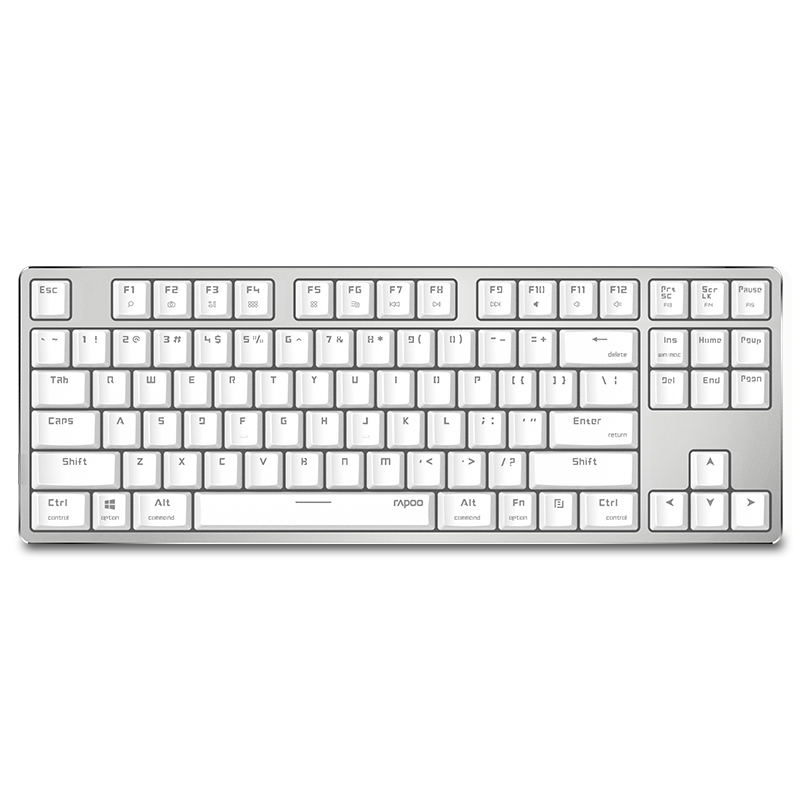 rapoo mt500 backlit mechanical keyboard usb wired keyboard of 87keys switches windows mac gaming. Black Bedroom Furniture Sets. Home Design Ideas