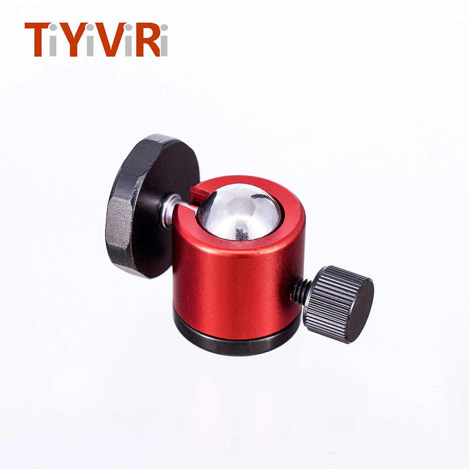 "TiYiViRi Mini Ball Head 1/4"" Mount for Camera Tripod ballhead for Nikon Canon DSLR Camera Dsr Mount Stand for camera tripod"