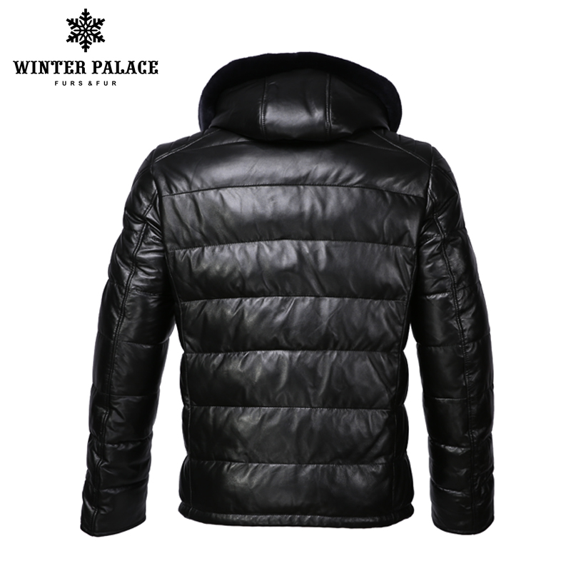 Nouvelle veste en cuir d'hiver apporter chapeau veste en cuir hommes veste en coton interne hommes en cuir véritable chaud jaqueta de couro mascul-in Manteaux en cuir véritable from Vêtements homme    3