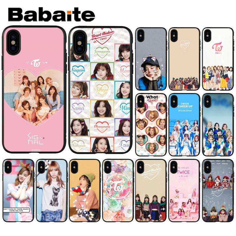 Babaite Twice Mina Momo <font><b>Kpop</b></font> Novelty Fundas Phone <font><b>Case</b></font> Cover for <font><b>iPhone</b></font> 8 7 6 6S Plus 5 5S SE XR X XS MAX Coque Shell image