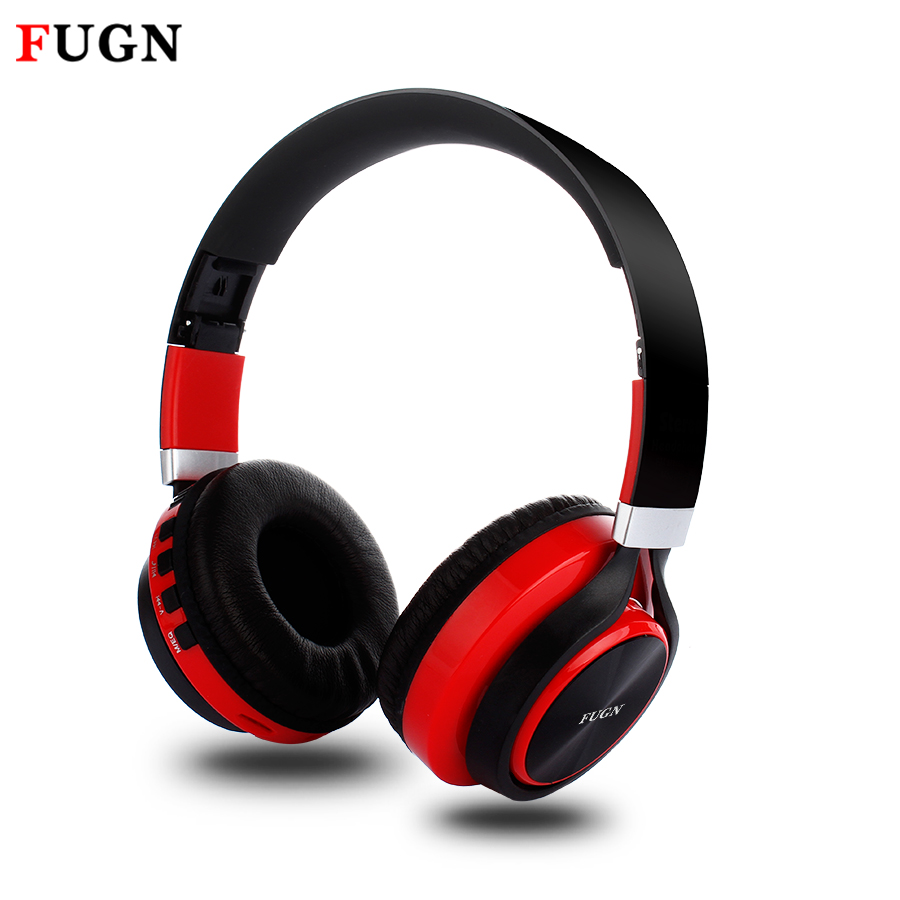 FUGN HiFi Stereo Bluetooth Earphone for Gamer Bass Sound Bluetooth Wireless Headset with Micro SD/TF FM Radio Sports Headphone hands free hifi stereo bluetooth 4 0 headset headphone with mp3 player micro sd fm radio function headhand headset for phone