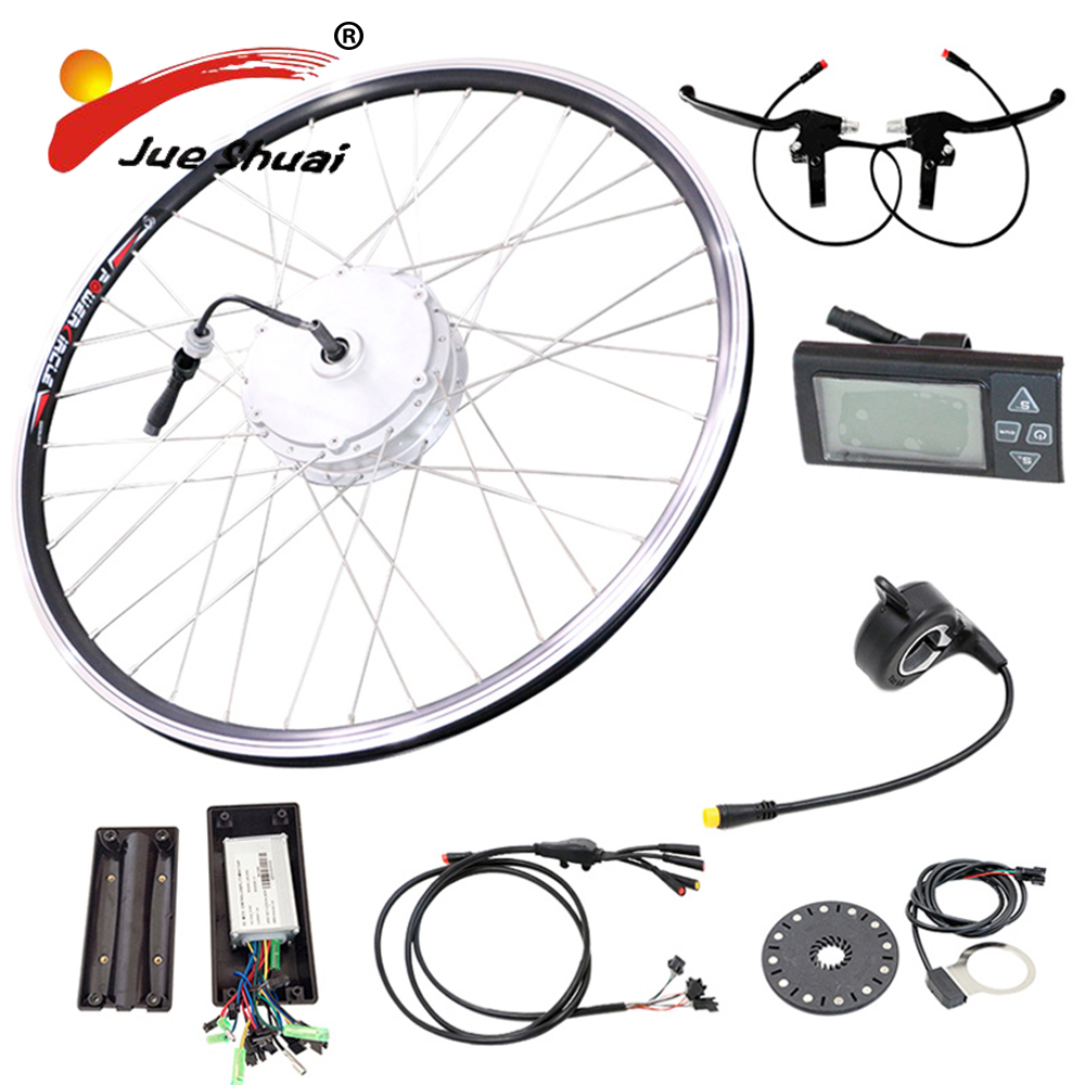 LED LCD 900LCD bike computer 250w 350w 500w ebike conversion kit powerful electric bike with LED front bicycle light ebike kit|ebike conversion|ebike conversion kit|conversion kit - title=