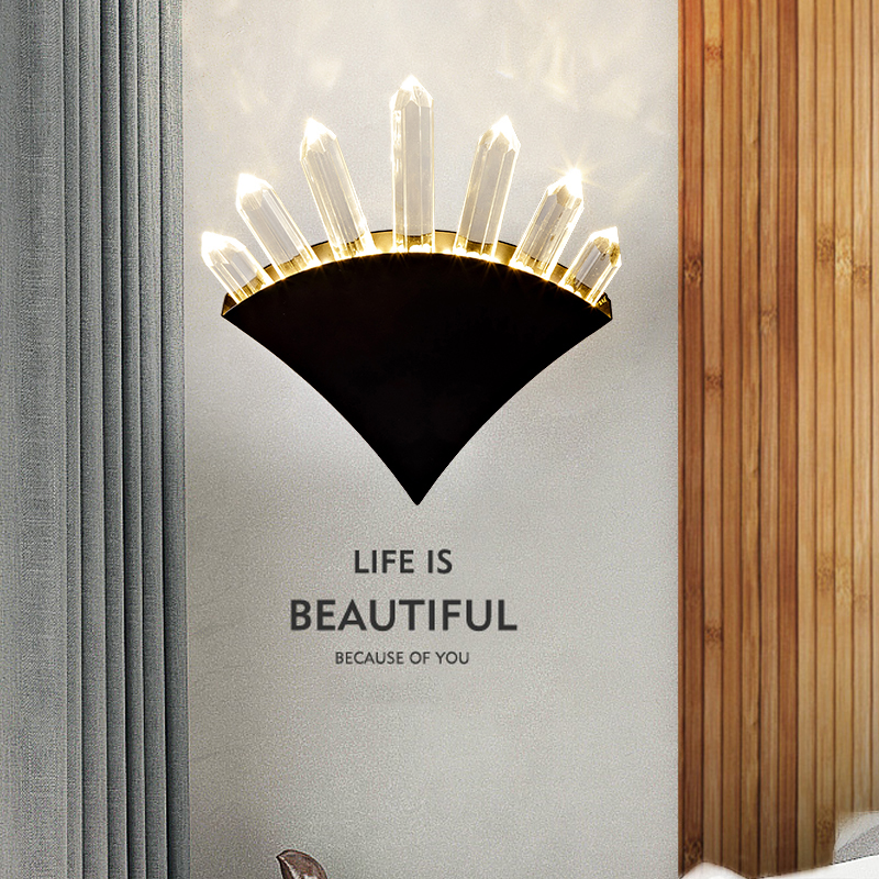 Modern Art High Grade Sector Crystal Wall Lamp For Home Bedroom Living Room Decoration Indoor Lighting European Luxury Style new modern home decoration luxury european styl toothbrush tumbler