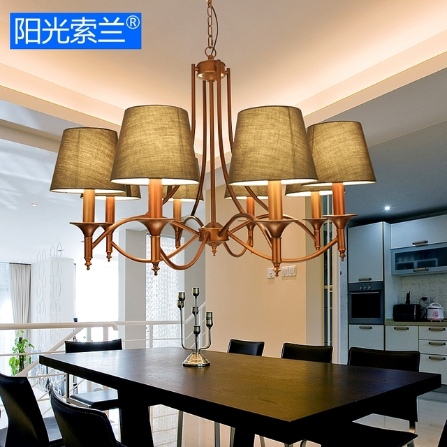 American Country Restaurant Pendant Light Decorative Lamp Fixture For  Diningroom Bedroom Coffee Bar E14 AC110