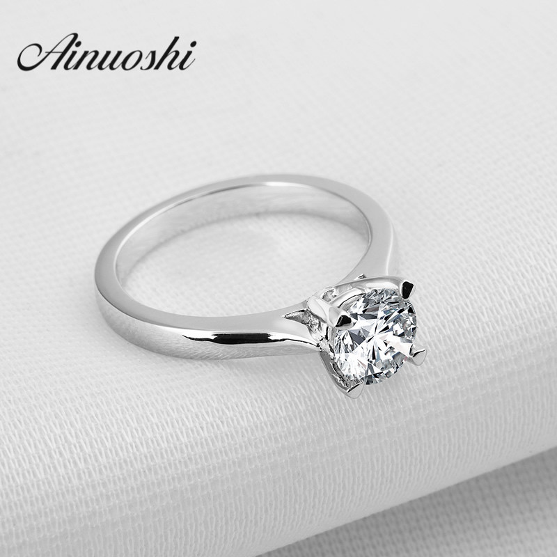 Vintage Style 1 Carat Synthetic Sona Solitaire Rings 925