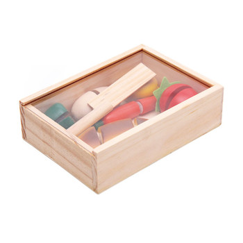 New Wooden Baby Toys Fruit Simulation Kitchen Educational