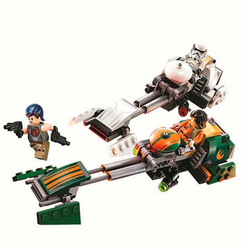 BELA 10369 Star Wars Rebeldes Ezra Speeder Moto Técnica 75090 Playmobil Brinquedos Para Crianças Blocos de Construção de Tijolos Compatível