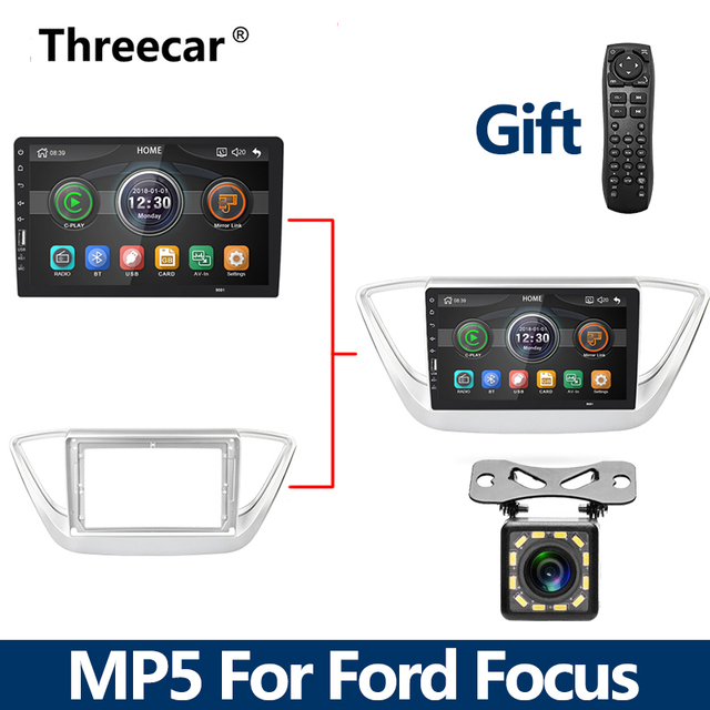 New MP5 2Din Car Radio Bluetooth For Ford Focus 2004 -2011 Mirrorlink iPhone Android 9.0 Car Radio Multimedia Player No Android