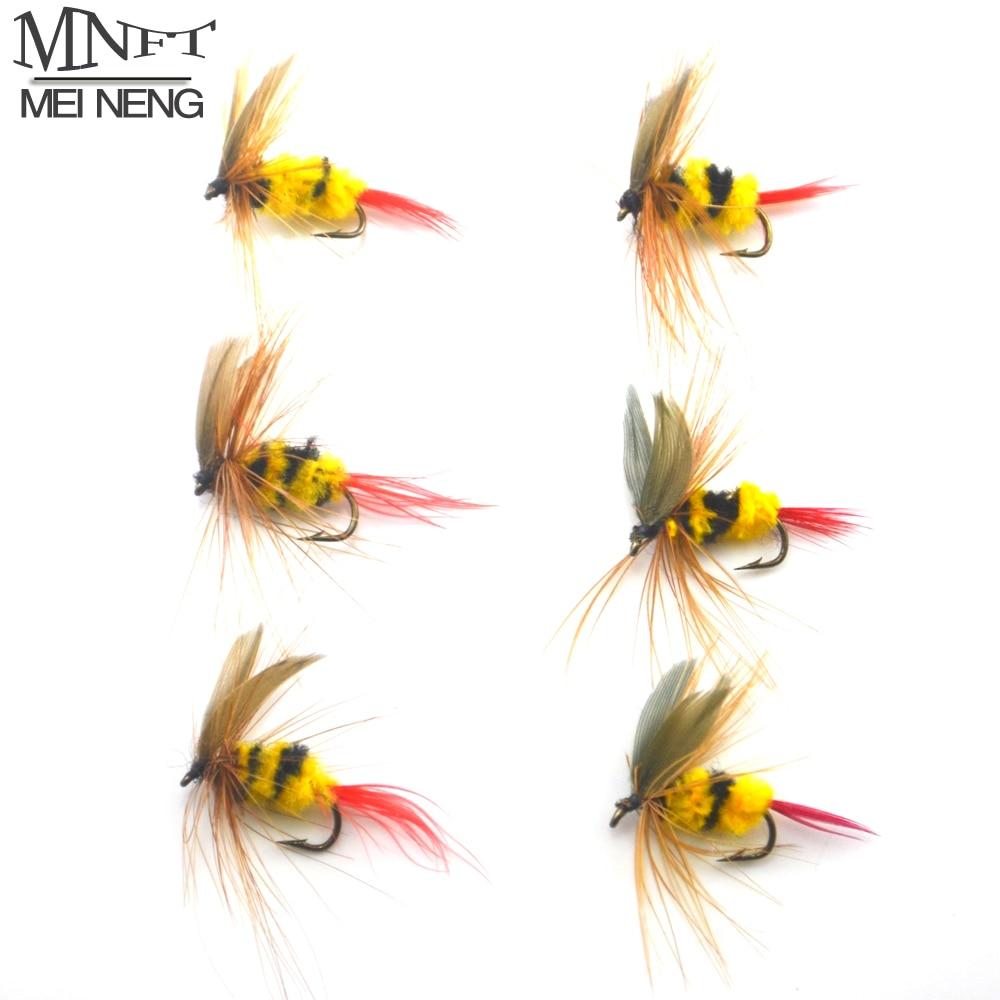 6 Pêche à La Mouche Nymphe Vole Tungstène cuivre rouge Midge Jig-Taille 18