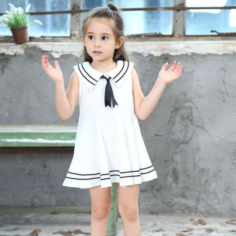 c30c0a16c10533 CmsDxz 2017 Sommer Niedlichen Stil Baby Infant Mädchen Kleid Neue Navy  Gestreiften Matrosen Kragen Bogen Kinder Kinder Kleider Für Mädchen kleidung  in ...