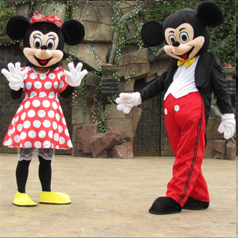 Costume mascotte mickey et costume minnie mascotte adulte costume mascotte Halloween