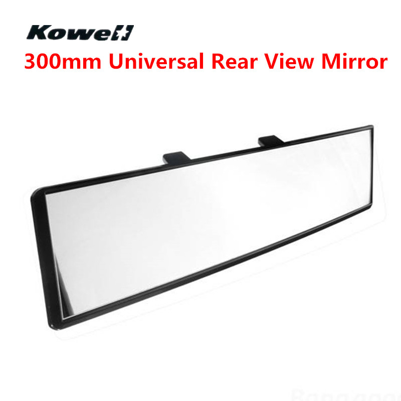 300MM Car Wide Flat Interior Clip On Rear View Clear Mirror Glass