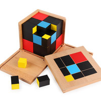 Montessori Trinomial Cube Montessori Educational Wooden Toys Math Learning Cube Box For Children Juguetes Montessori ME2064H
