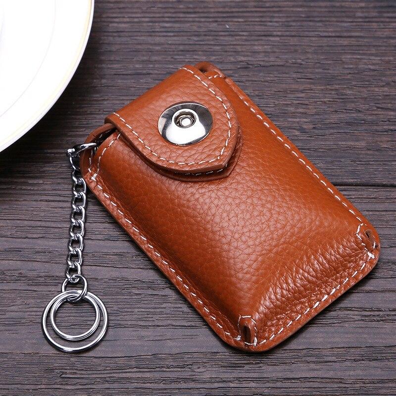 CICICUFF Cowhide Genuine Leather Car Key Wallet Keychain Covers Key Case Bag Men Key Holder Housekeeper Keys Organizer Purse New
