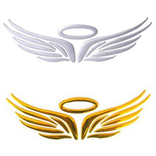 3D Angel Fairy Wings Pattern Car Auto Truck Badge Sticker Windshield Door Decor Hot