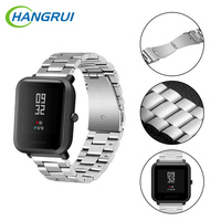 Newest Metal Stainless Steel Strap For Xiaomi Huami Amazfit Smart Watch Youth Edition Bip BIT PACE