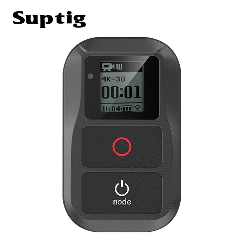 Suptig télécommande WIFI étanche pour Gopro hero 7/6/5/4/3 + caméra d'action pour Go Pro hero 5/4 Session accessoires de caméra de sport