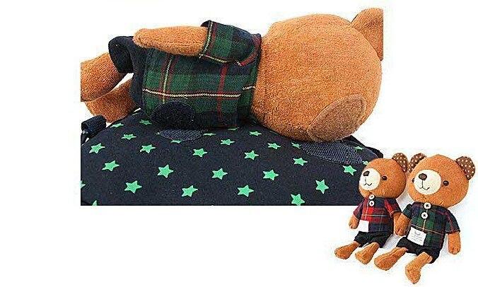 10 шт./лот медведь безопасности жгут сумка 3-в-1 для маленького ребенка безопасности ходячие поводья плюшевая игрушка-рюкзак приятель 2 цвета