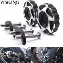 For Kawasaki Z1000 Z1000SX Ninja 1000 2010-2016 Motorcycle Hole Cover Rear wheel fork Frame Crash Pads Case Sliders Protector стоимость