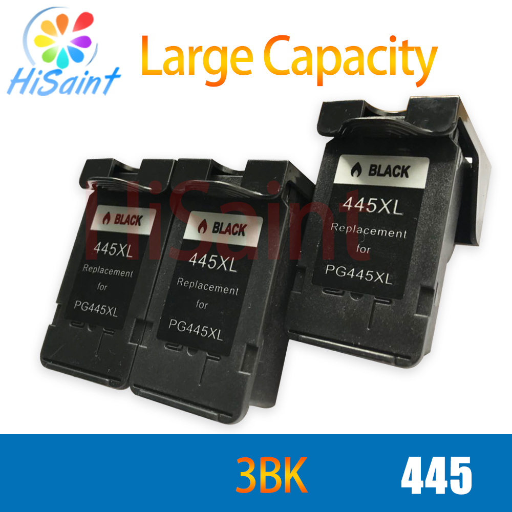 hisaint for canon 445XL PG445 printer ink cartridge for canon pixma ip2810 mg2410 mg2510 ink jet printer free shipping hot sale image
