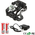 2000 Lumen CREE XML T6 Headlight,Headlamp,Fishing,Head Lamp Light+ 2pcs 18650 3000 MAH battery+ Charger