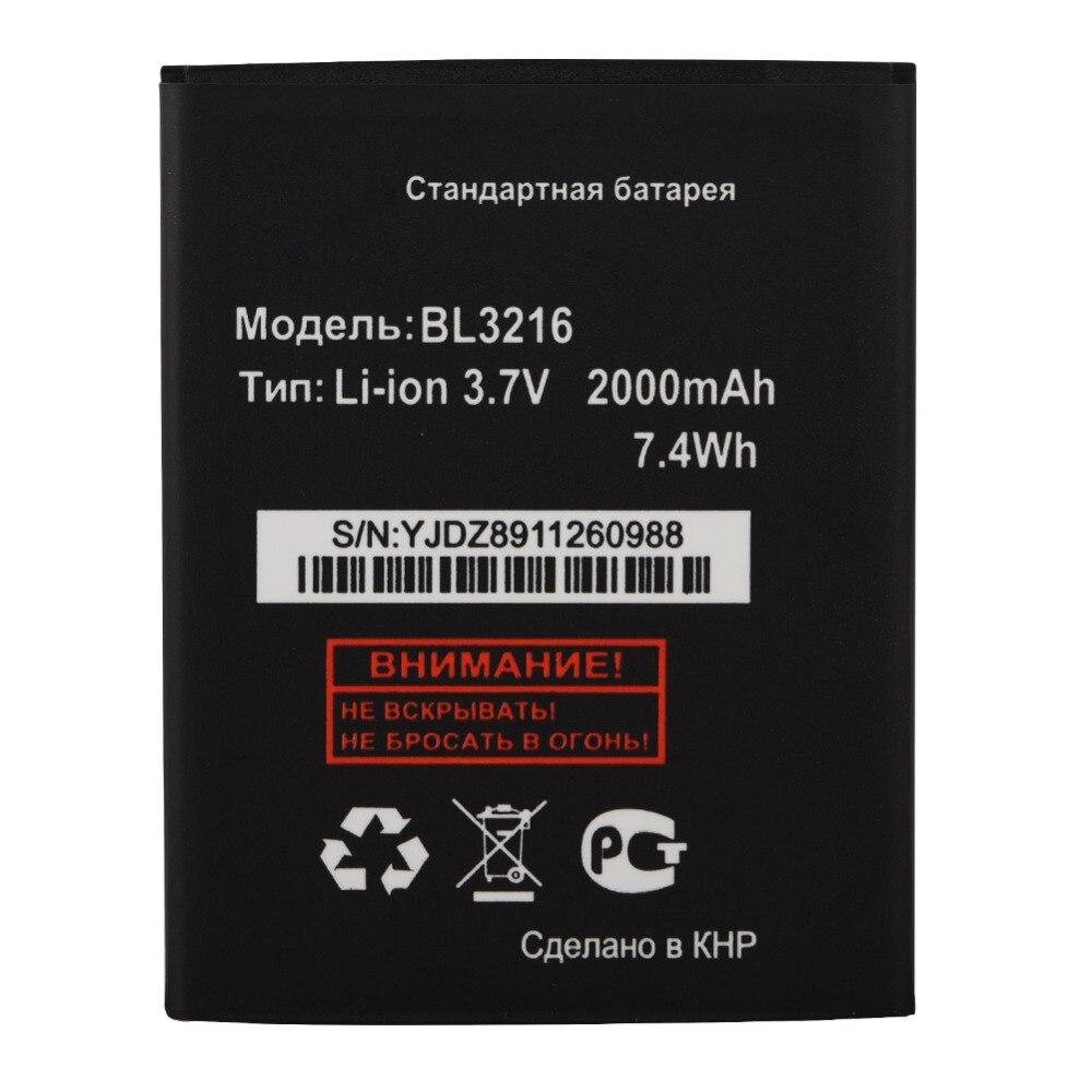 Высокое качество Батарея для Fly 2000 мАч bl3216 BL 3216 3216 мобильный телефон Перезаря ...