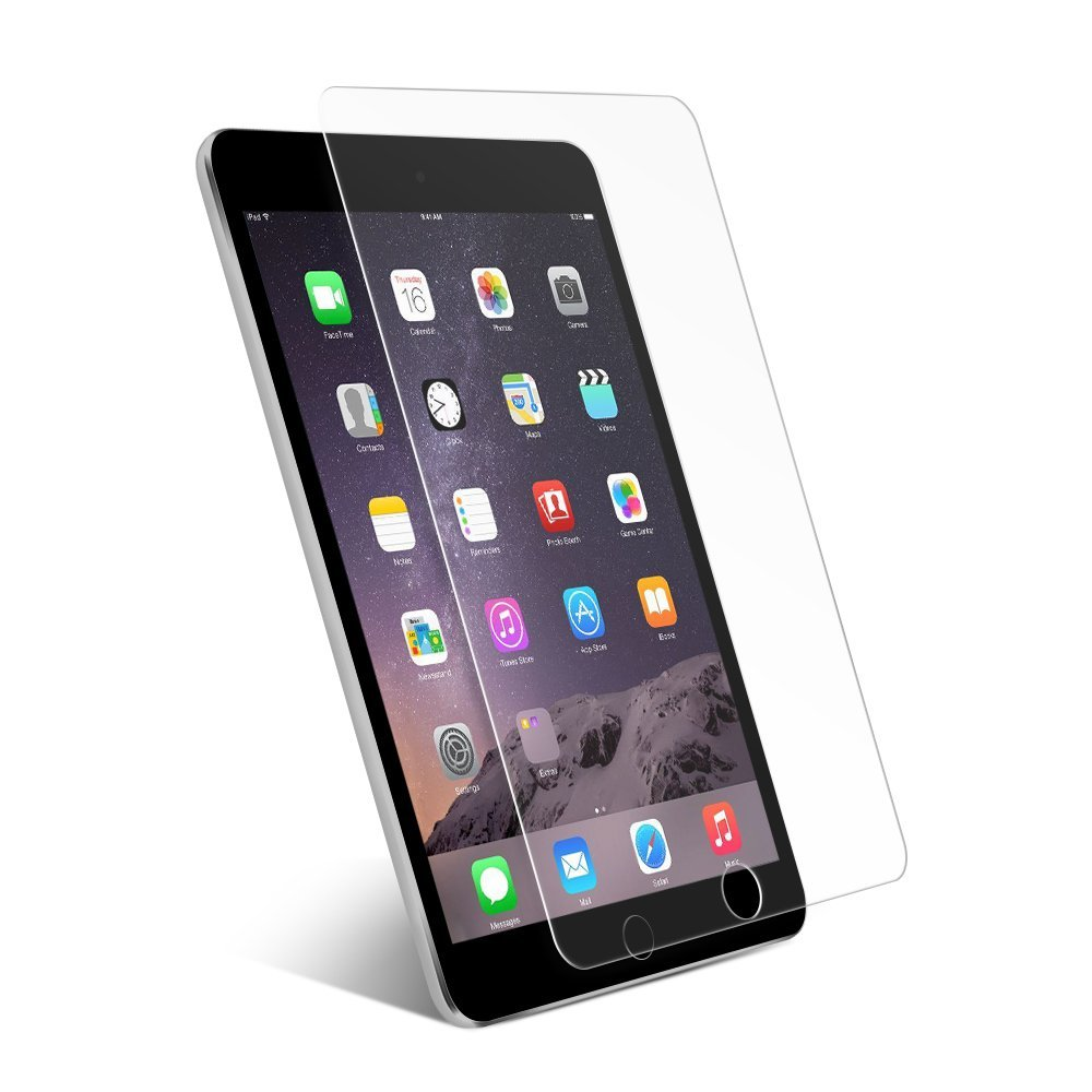 Tempered Glass Screen Protector for iPad Mini 4 7.9 Premium 9H Hardness 2.5D 0.3mm Anti- ...