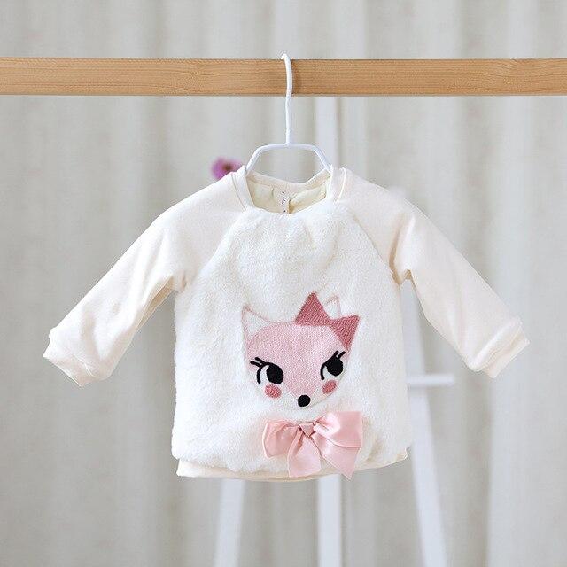 DHL Fress Express Ship New Autumn Winter Baby Girl Cartoon FOX Sweatshirt  Thick Warm Sweater Infant Girls Newborn Sweaters Coats b50c9626ebb