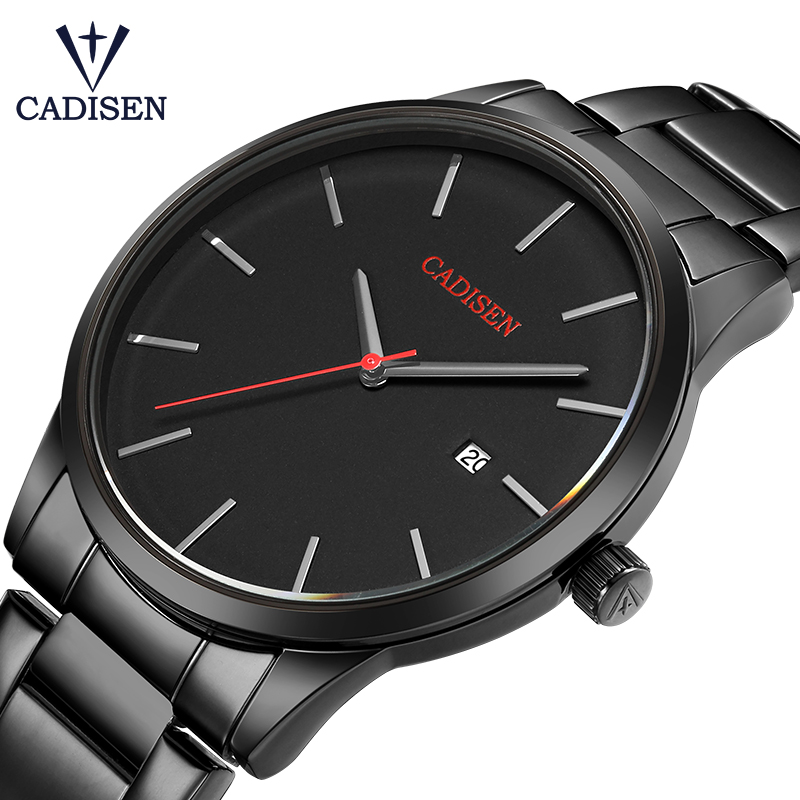 relogio masculino CADISEN Top Luxury Brand Analog sports Wristwatch Display Date Men's