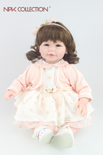 Beautiful doll curls hair design Reborn toddler girl doll sweet baby doll festival Gift Toys for