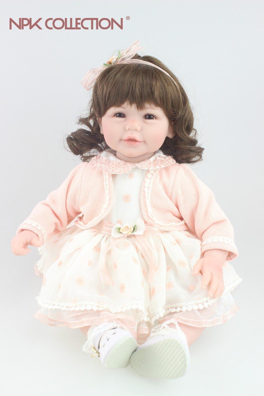 Bella bambola capelli ricci disegno bambino Reborn girl doll sweet baby Giocattoli bambola festival Regalo per gli amici