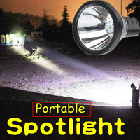 Highpower led t6 rechargeable spotlight hunting flashlight Portable lighting searchlight