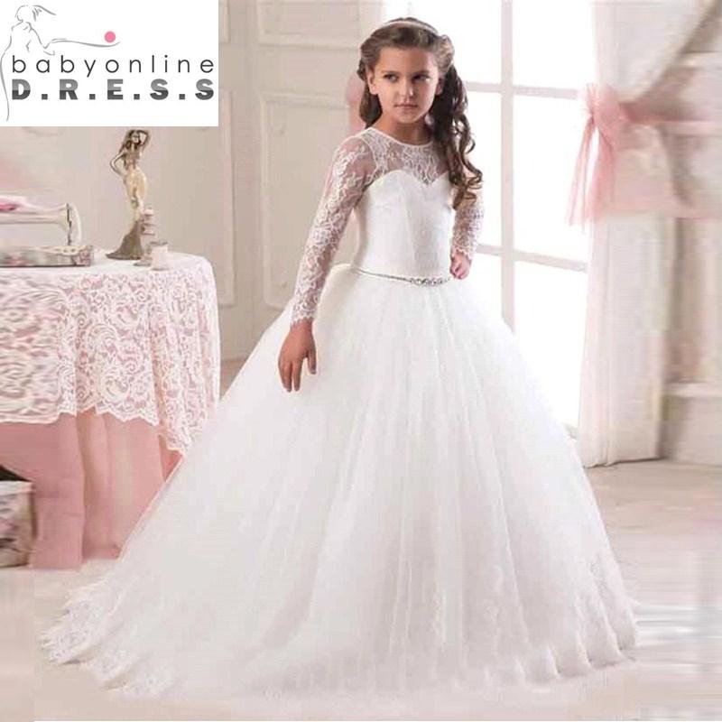 Online Get Cheap Long Sleeves Flower Girl Dress -Aliexpress.com ...