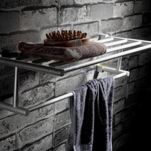 Aluminum Silver Classical Towel Rack Holder Home Hotel Bathroom Wall Mount Storage Rack Rail Towel Bar Antique