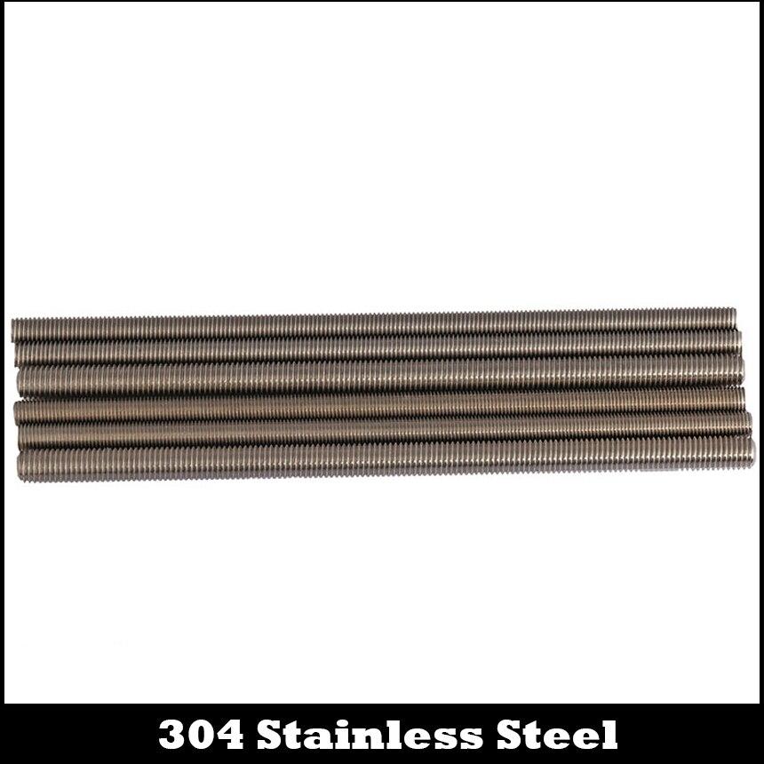 M18*2.5*250 M18x2.5x250 M20*2.5*250 M20x2.5x250 304 Stainless Steel ss Left Way Left-Handed Reverse Bolt Thread Bar Studding Rod