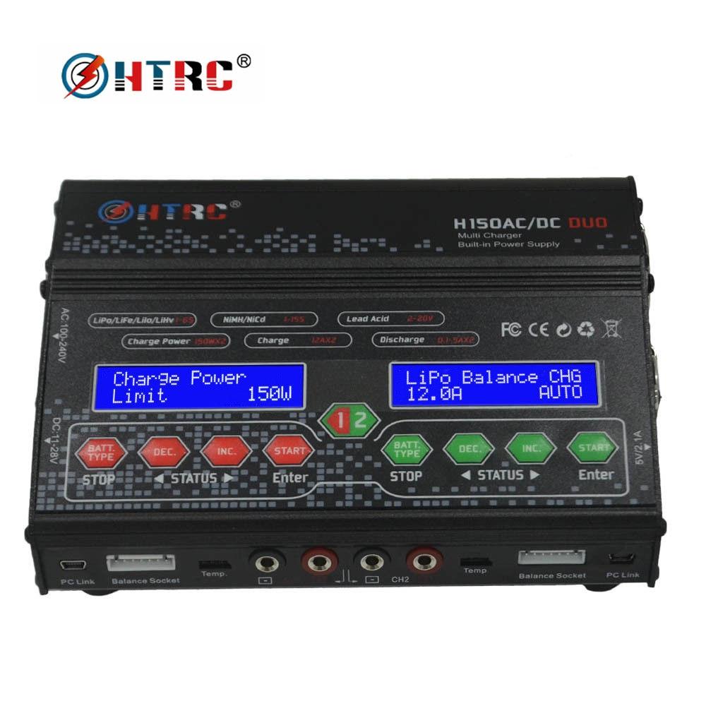 HTRC H150 DUO AC/DC 300W 12Ax2 double sortie haute puissance RC chargeur d'équilibre chargeur pour Lilon/LiPo/vie/LiHV/Nimh/Nicd batterie-in Pièces et accessoires from Jeux et loisirs    1