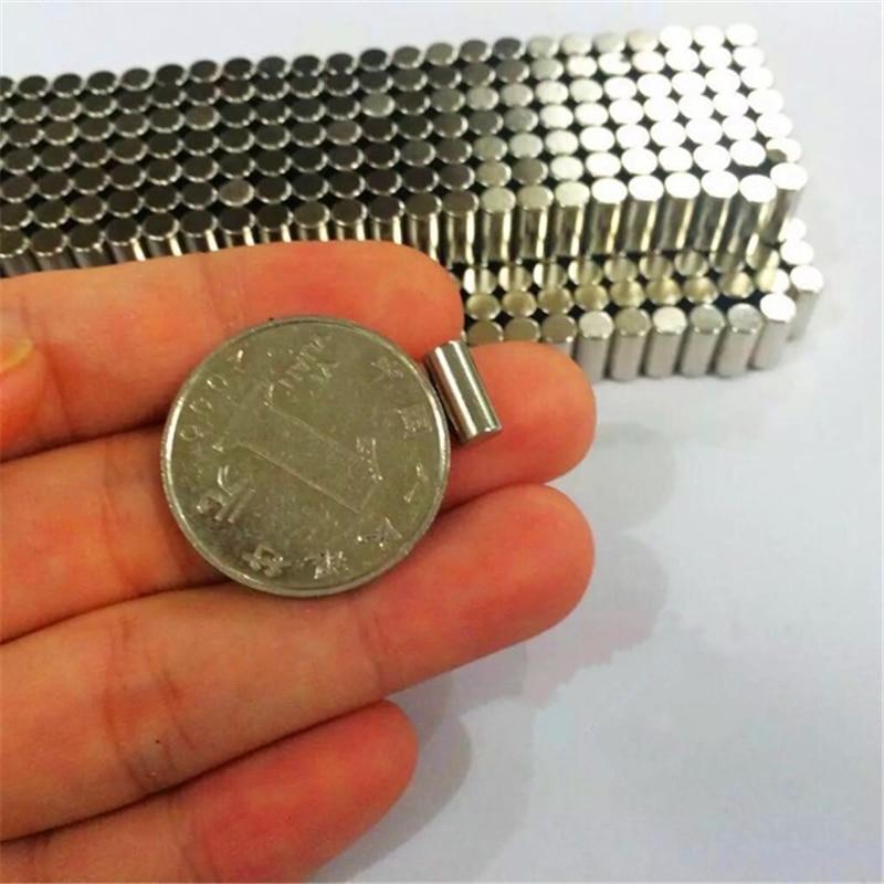 100PCS D4.3mm*9mm powerful neodymium ndfeb rare earth permanent magnet radial magnetization DIY bracelet