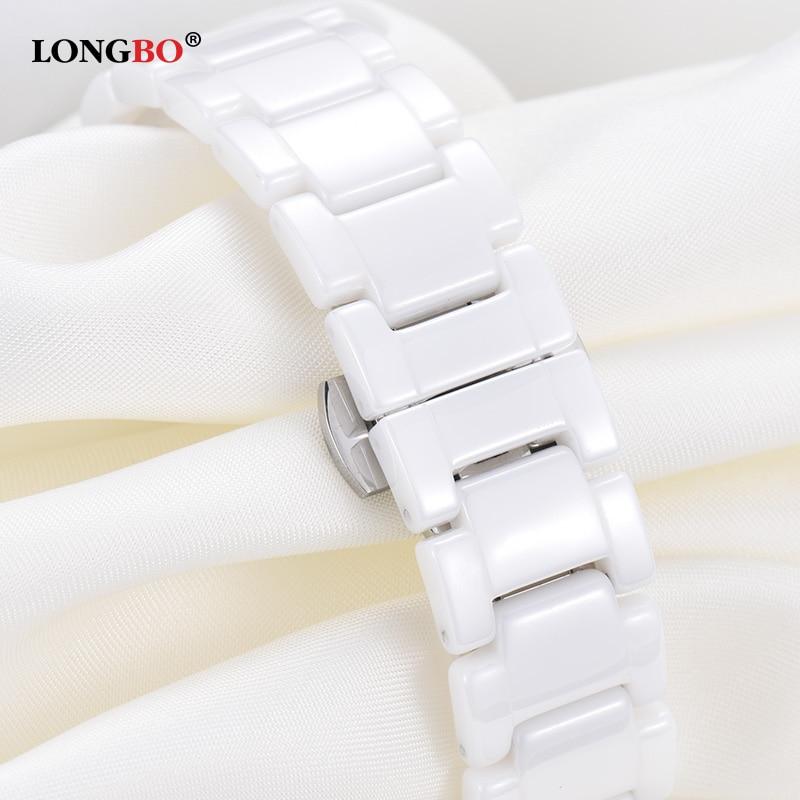 Women Watch LONGBO Brand Luxury Fashion Casual Unique Lady Wrist Watches Ceramic Quartz Watch Waterproof Stylish Reloj Mujer in Women 39 s Watches from Watches