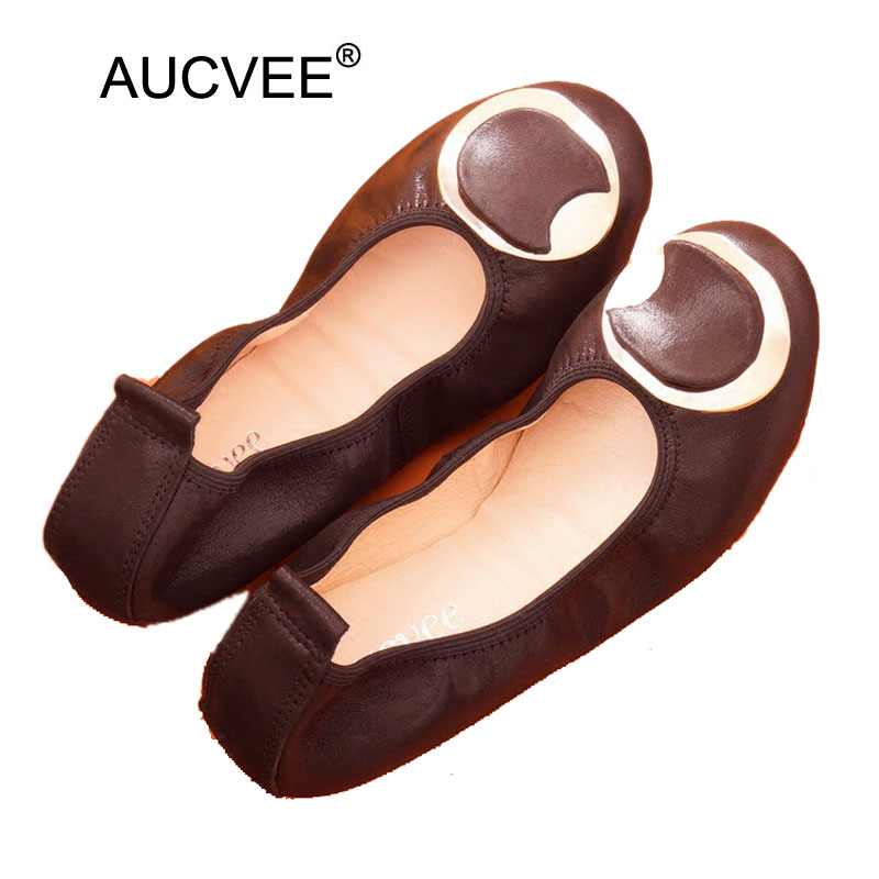 Women genuine leather shoes casual slip-on ballet women Flats Metal decoration moccasins 2018 spring fashion Lady shoes Black