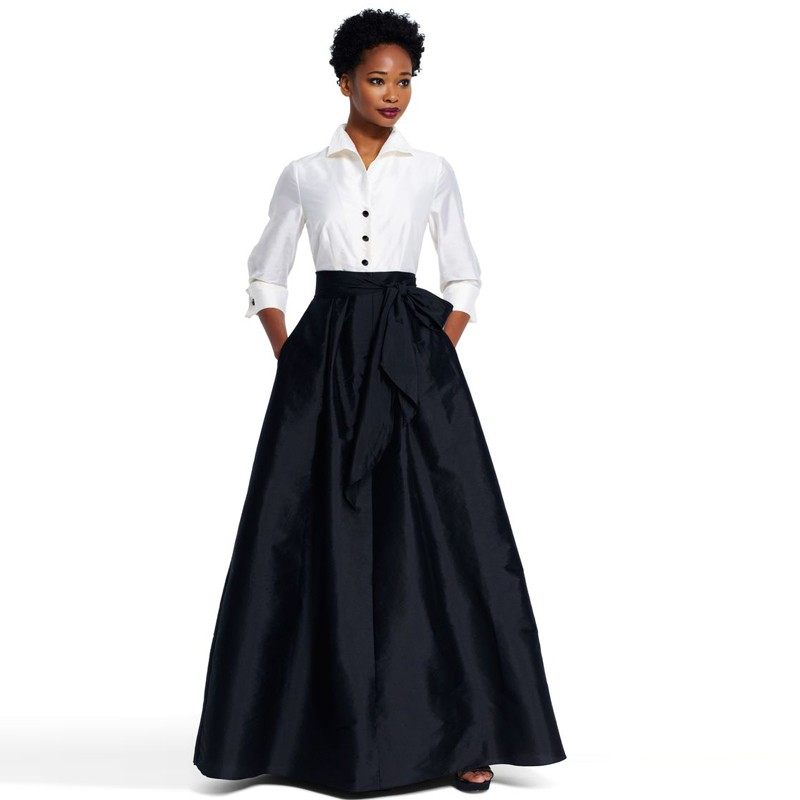High Quality 2017 Custom Made Long Black Skirt Ball Gowns With