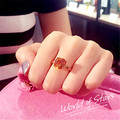 famous brand Princess Citrine ring retro women fashion rings finger female jewelry Bohemian exaggerated girlfriend gift