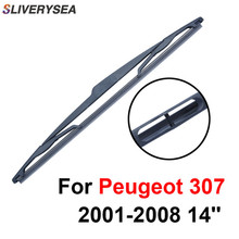 SLIVERYSEA Rear Windscreen Wiper No Arm For Peugeot 307 2001-2008 14 High Quality Iso9000 Natural Rubber C1-35