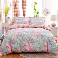Ev ve Bahçe'ten Nevresim'de Bohemian nevresim yatak örtüsü seti Polyester Pamuk Yumuşak çarşaf Nevresim Yastık Kılıfı