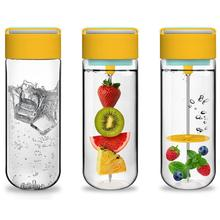 750ML candy color Pop BPA free fruit pierce juice Health Lemon Juice Make Water Bottle gift box Portable DIY drinkware Y3