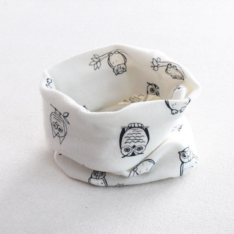 Осенне-зимний детский хлопковый шарф для девочек и мальчиков теплые шарфы Детский круглый кольцевой ошейник Детский шарф детский волшебный шейный платок - Цвет: owl 4