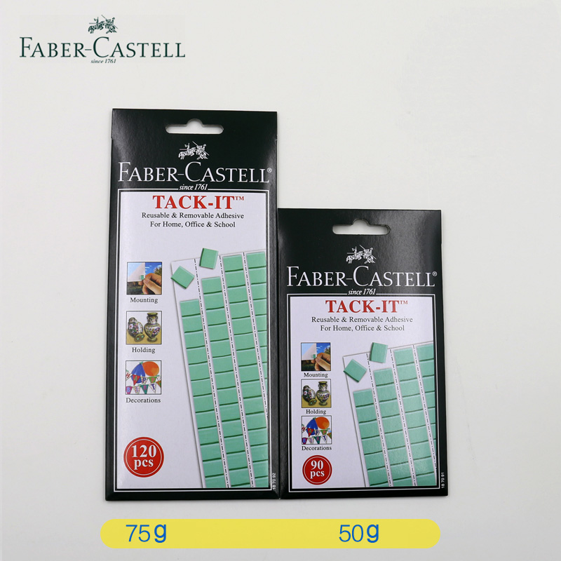 Faber castell 50g 75g Blu Tack Reusable Removable Adhesive Glue For Home Office Tack It faber pareo