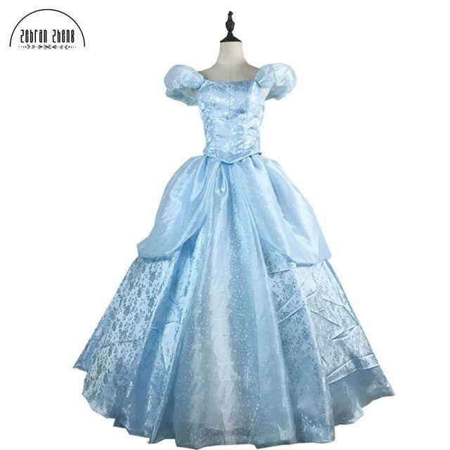 03eec6d1ab0613c Новое поступление одежда высшего качества Золушка Принцесса косплэй костюм  для взрослых женщин платье Золушки костюмы