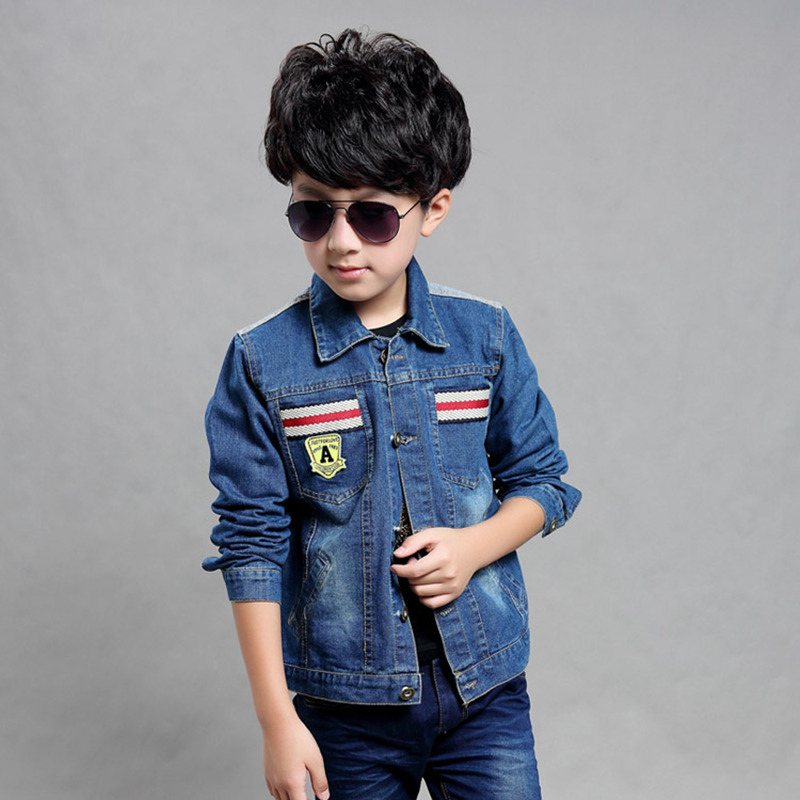 fab65e25 Hot selling cool style big kid jean coats clothing spring autumn coloured  lee jeans denim jacket 5T boys cheap price-in Jackets & Coats from Mother &  Kids ...