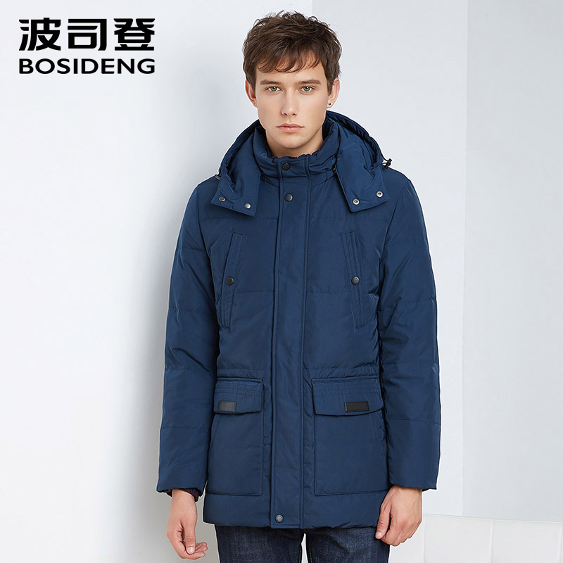 BOSIDENG winter duck down jacket men down coat men parka thick warm high quality hood business British gentle man B1601231Q